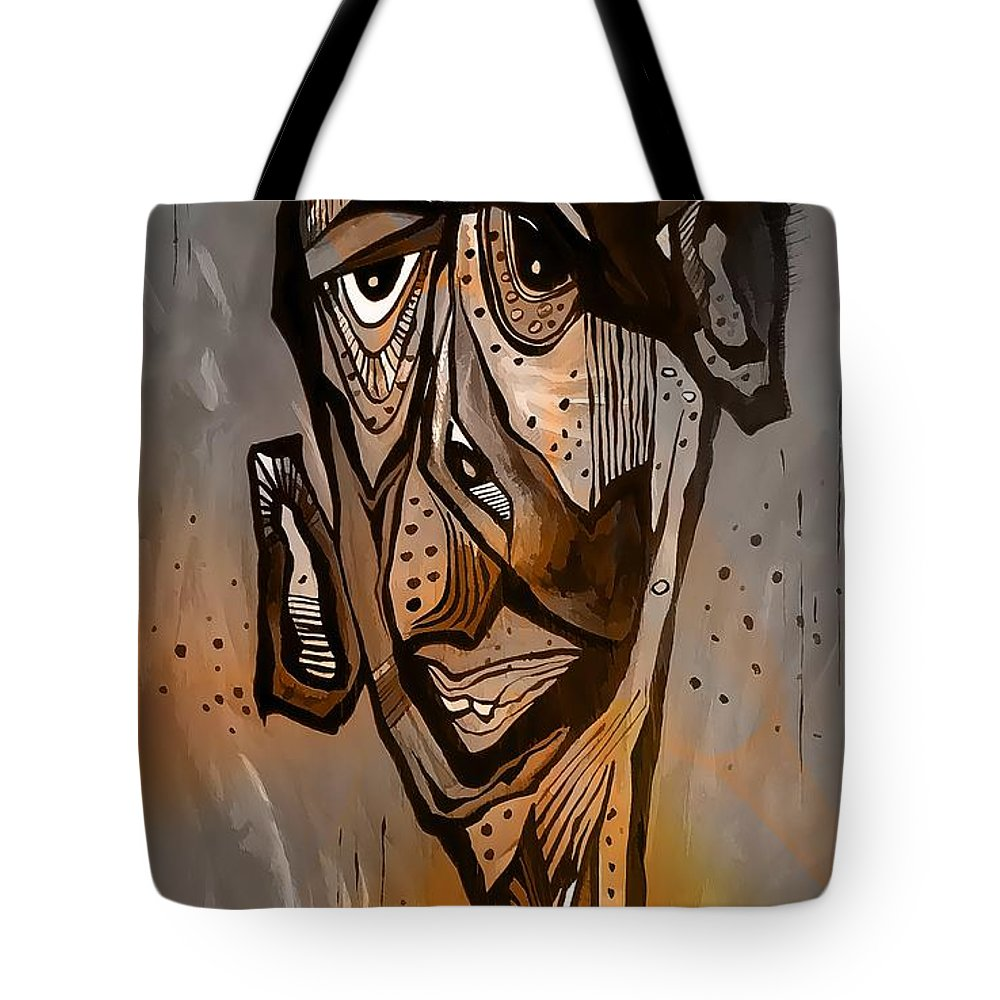 Abstraction Tote Bag featuring the digital art Abstraction 3297 by Marek Lutek