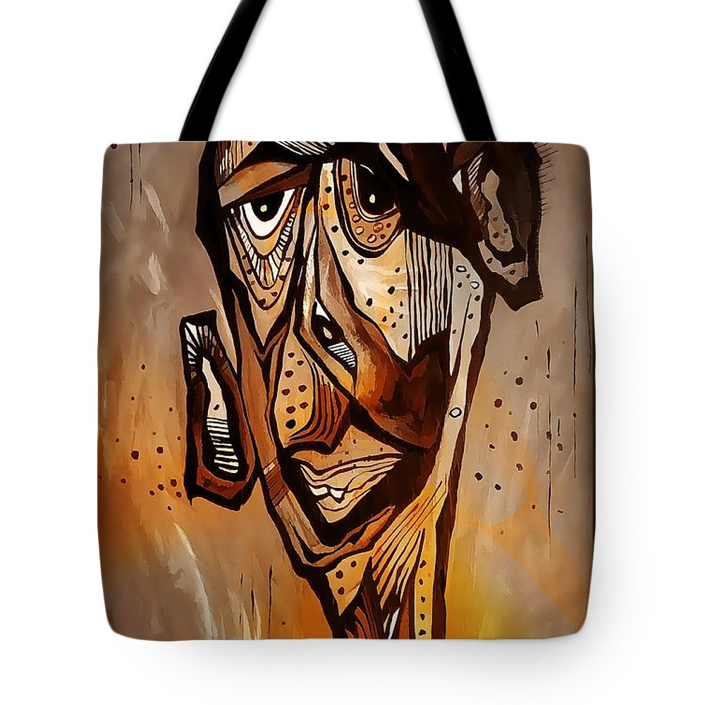 Abstraction Tote Bag featuring the digital art Abstraction 3300 by Marek Lutek