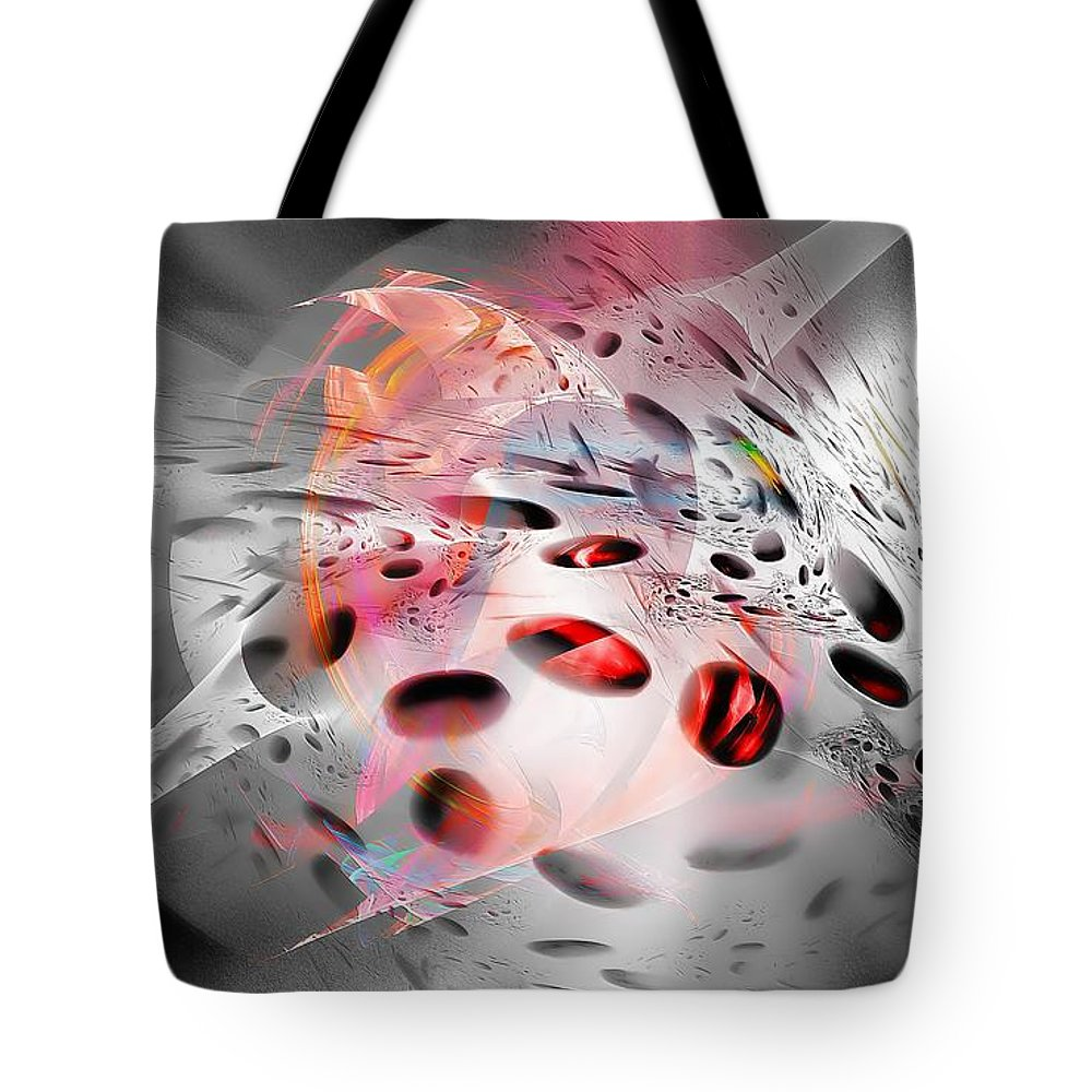 Abstraction Tote Bag featuring the digital art Abstraction 3304 by Marek Lutek