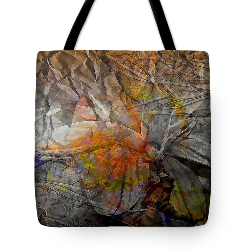 Abstraction Tote Bag featuring the digital art Abstraction 3414 by Marek Lutek