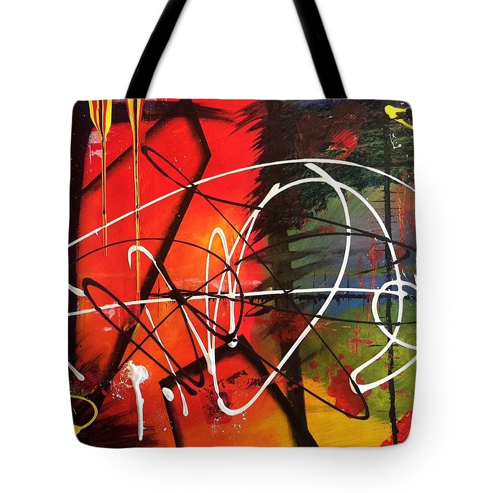 Abstraction Tote Bag featuring the painting Abstraction by Lucie Prochazkova