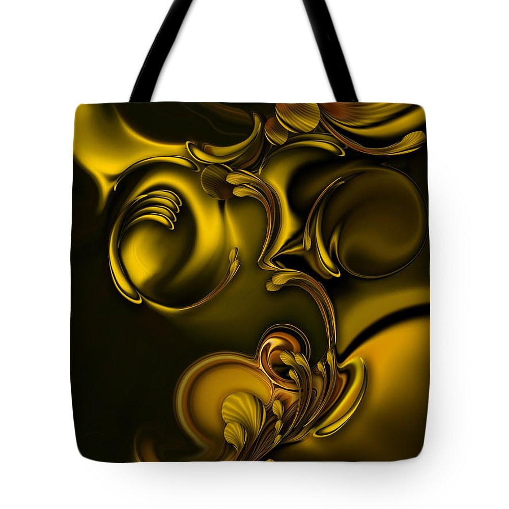 Abstraction Tote Bag featuring the digital art Abstraction with Meditation by Carmen Fine Art