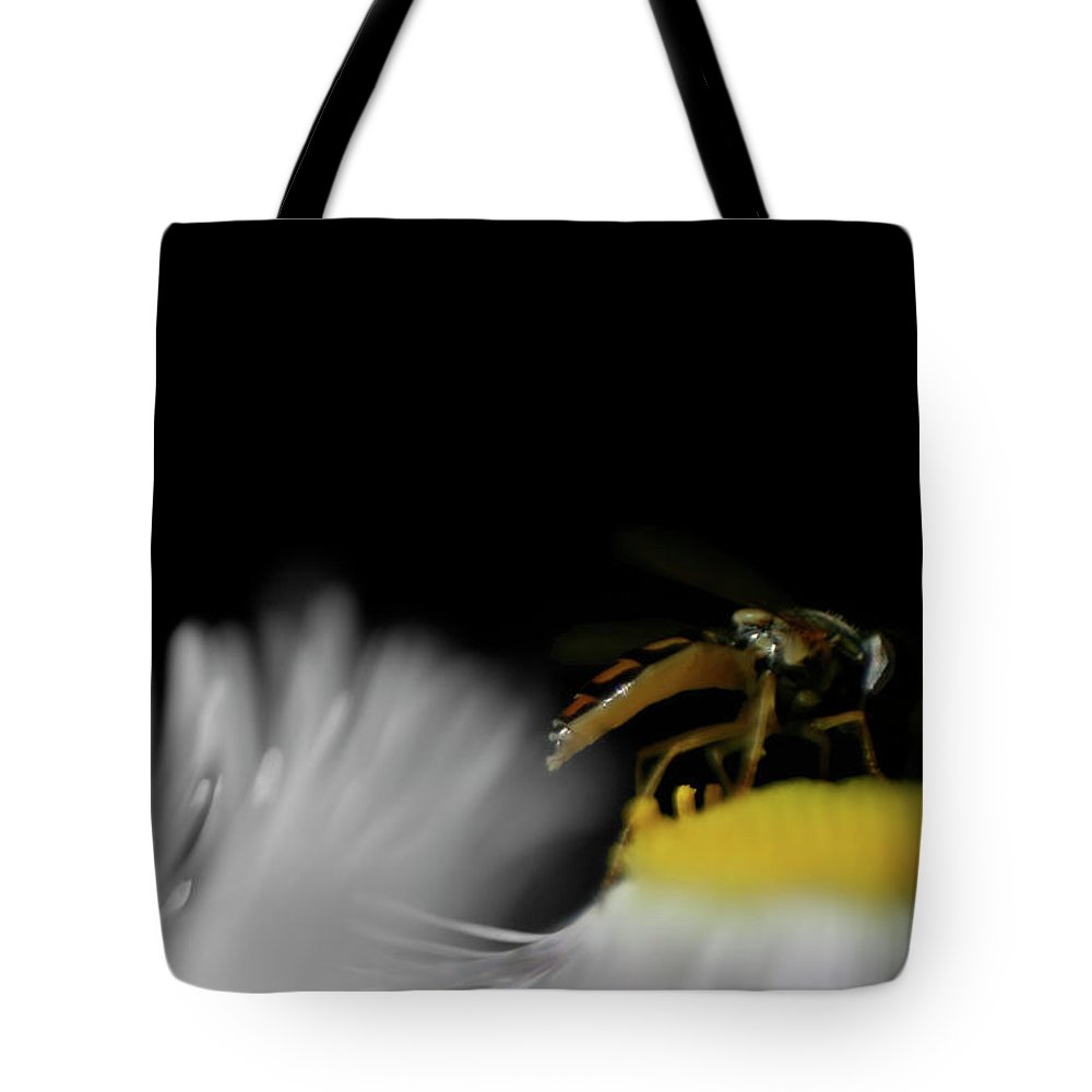 Macro Tote Bag featuring the photograph Abuzz by Dylan Punke