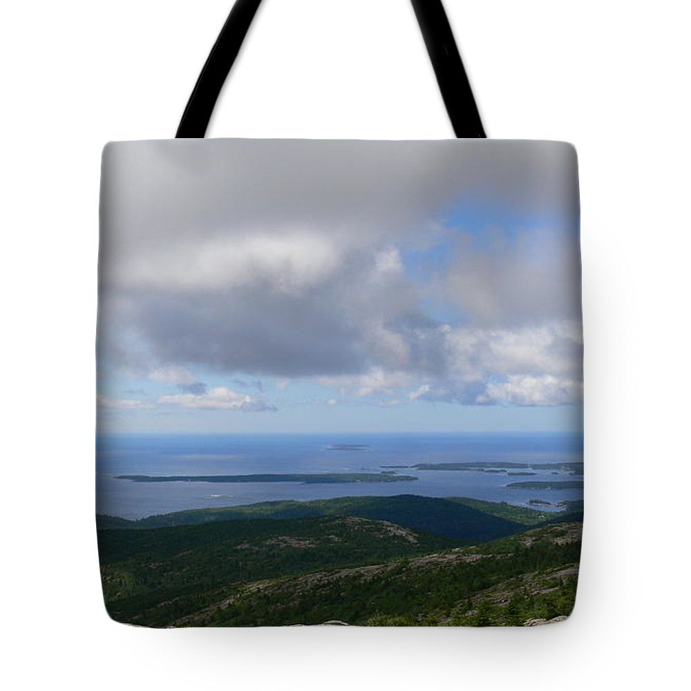 Cadillac Mountain Tote Bag featuring the photograph Acadia National Park by Nancie DeMellia