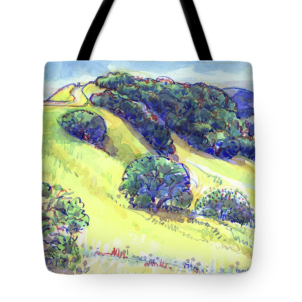 Landscape Tote Bag featuring the painting Acalanes Ridge, Lafayette, Ca by Judith Kunzle