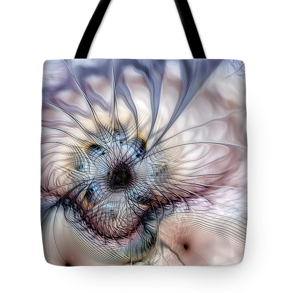 Abstract Tote Bag featuring the digital art Accepting Inspiration by Casey Kotas