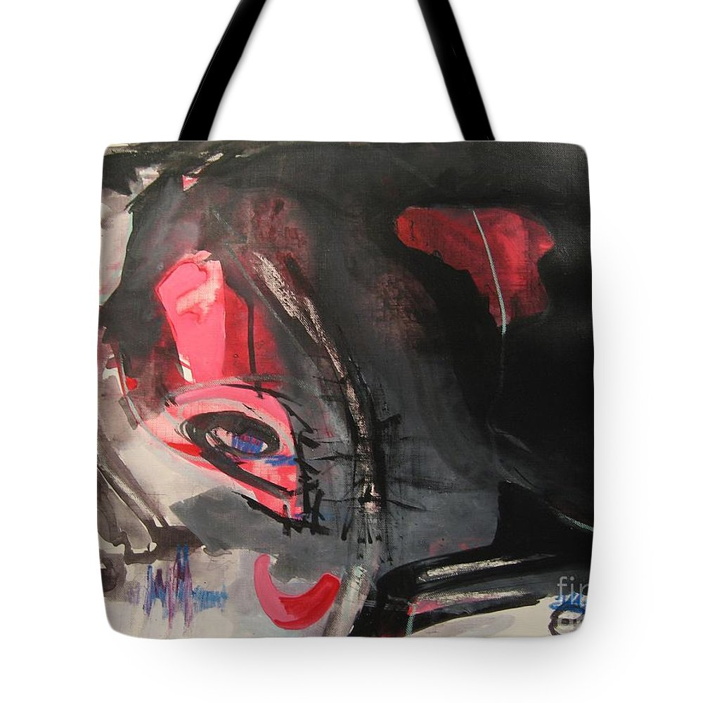 Abstract Paintings Paintings Abstract Art Paintings Tote Bag featuring the painting Accessible To Nobody by Seon-Jeong Kim