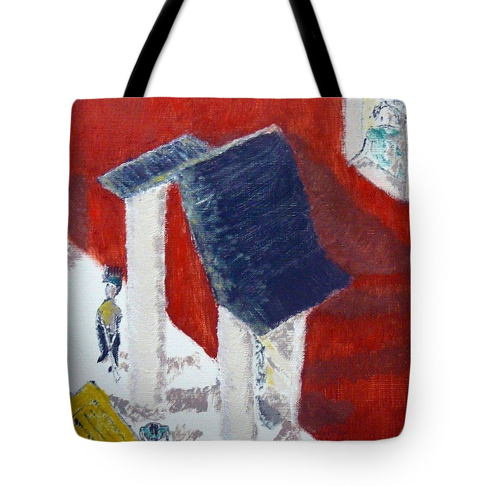 Social Realiism Tote Bag featuring the painting Accessories by R B