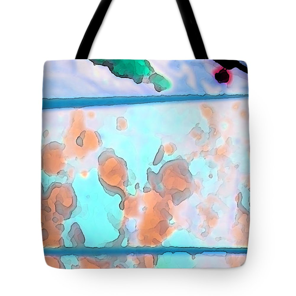 Abstract Tote Bag featuring the digital art Accident On The Moon by Lenore Senior