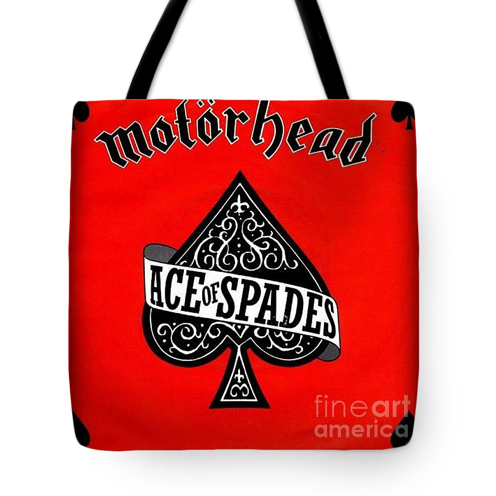 Lemme_ace Of Spades_motorhead_album Covers_richard John Holden Tote Bag featuring the painting Ace Of Spades by Richard John Holden RA