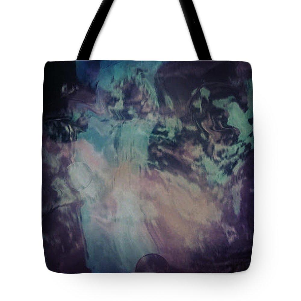 Digital Art Tote Bag featuring the digital art Acid wash by Kerri Thompson