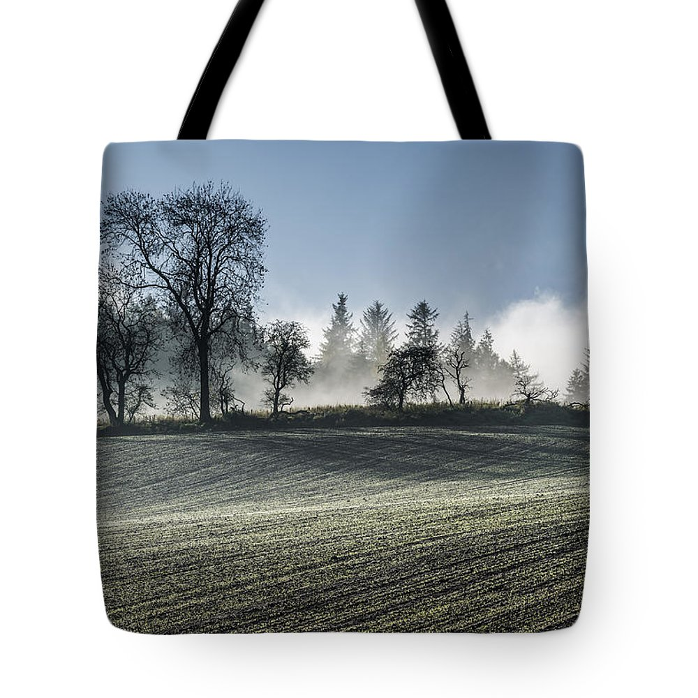 Acomb Tote Bag featuring the photograph Acomb Misty Day by David Taylor