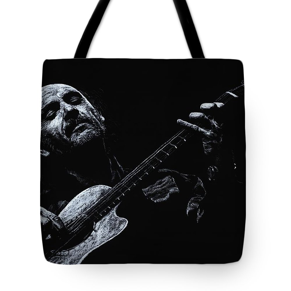 Musician Tote Bag featuring the pastel Acoustic Serenade by Richard Young