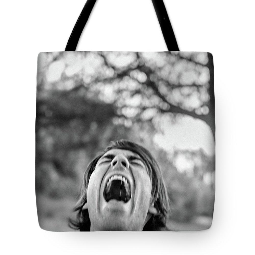 Scream Tote Bag featuring the photograph Acream by Elena Rojas Garcia