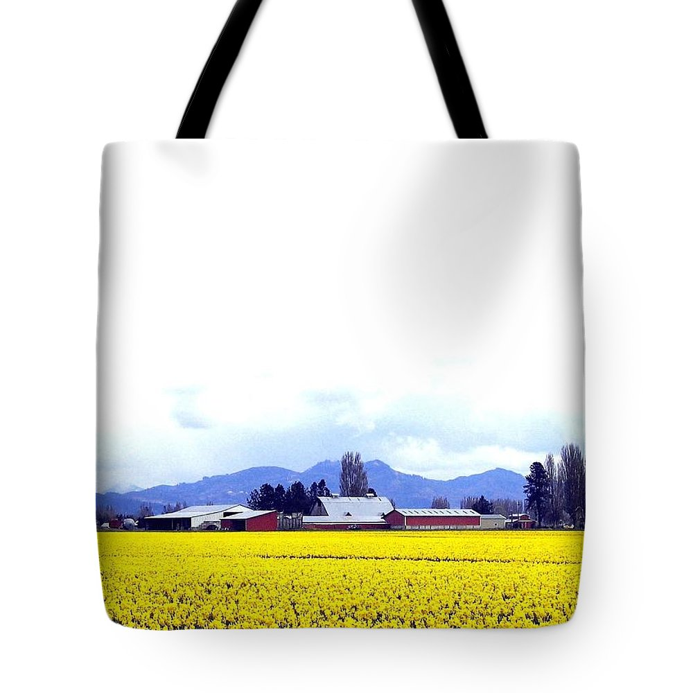 Agriculture Tote Bag featuring the photograph Acres Of Daffodils by Will Borden