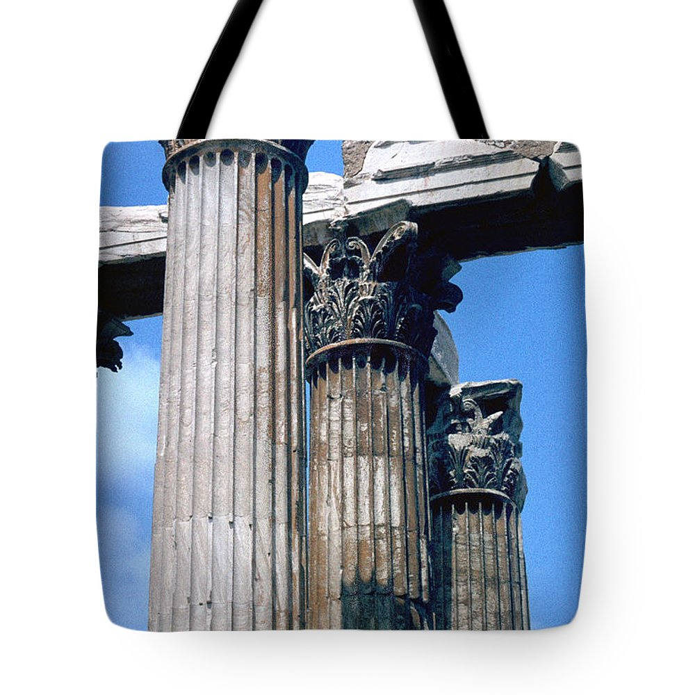 Acropolis Tote Bag featuring the photograph Acropolis by Flavia Westerwelle