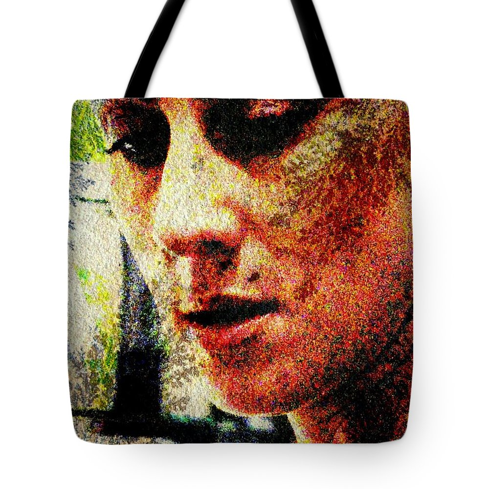 Woman Tote Bag featuring the digital art Across The Divide by Derick Burke