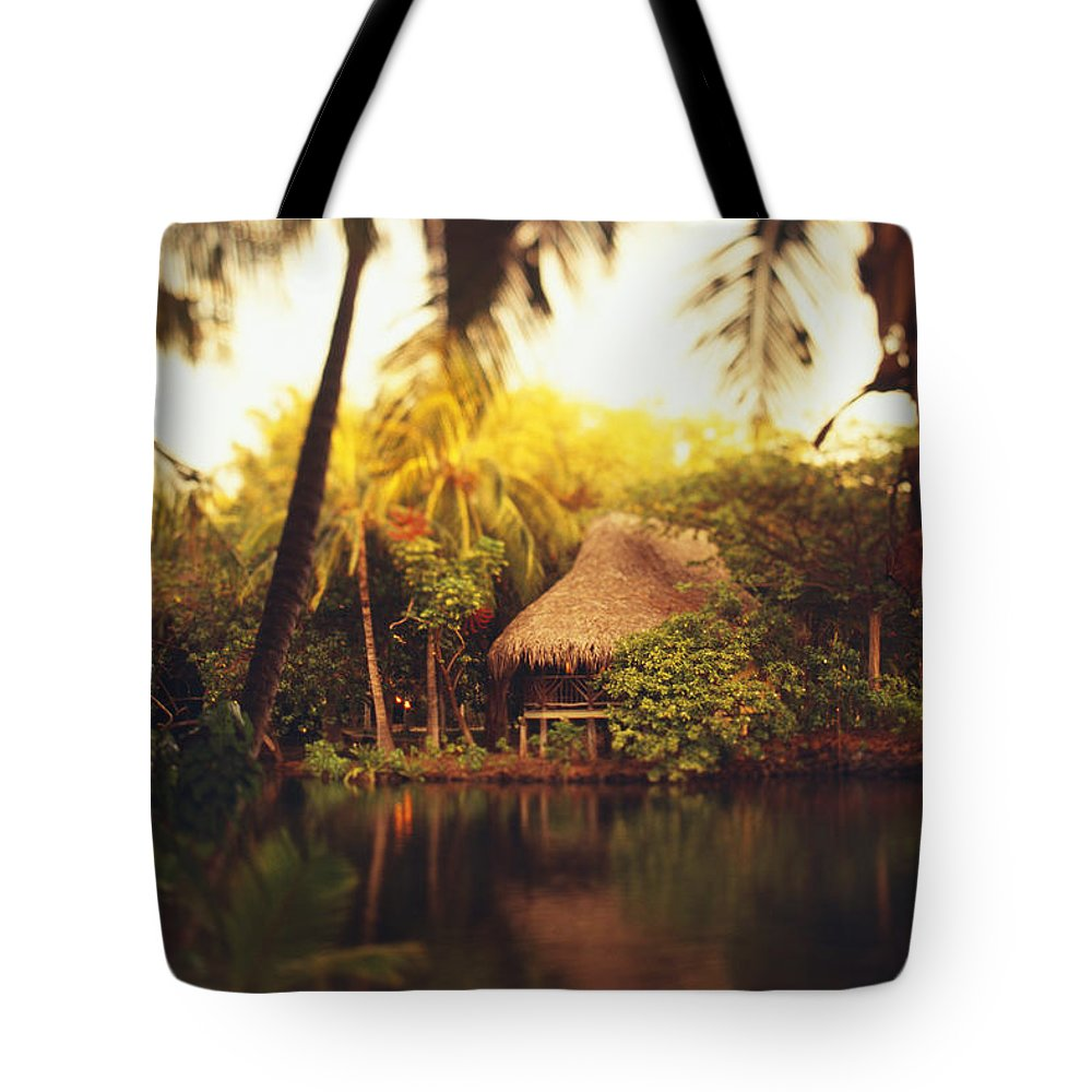 Active Tote Bag featuring the photograph Across The Lagoon by Dana Edmunds - Printscapes