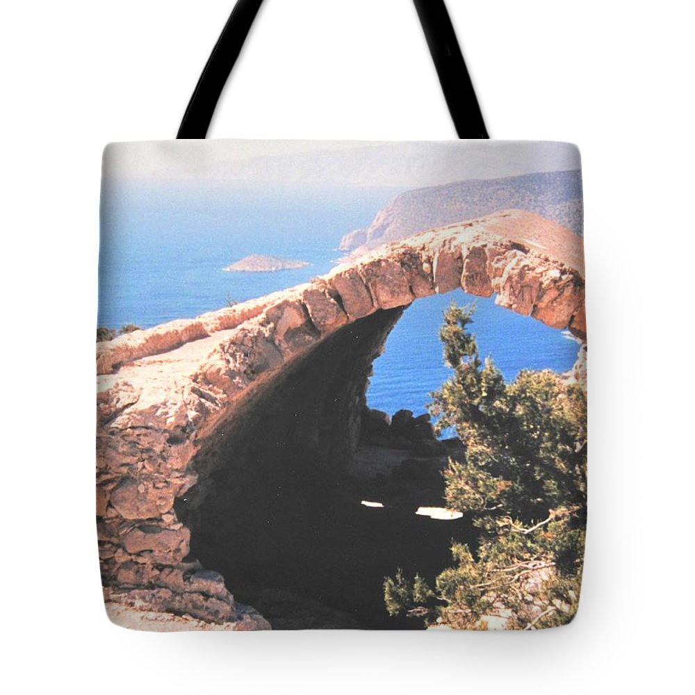 Greece Tote Bag featuring the photograph Across To Turkey by Ian MacDonald