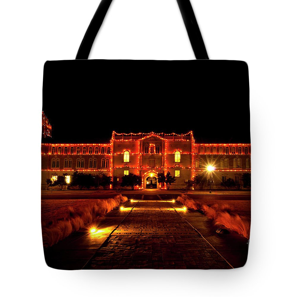 Ad Building Tote Bag featuring the photograph Ad Building by Mae Wertz