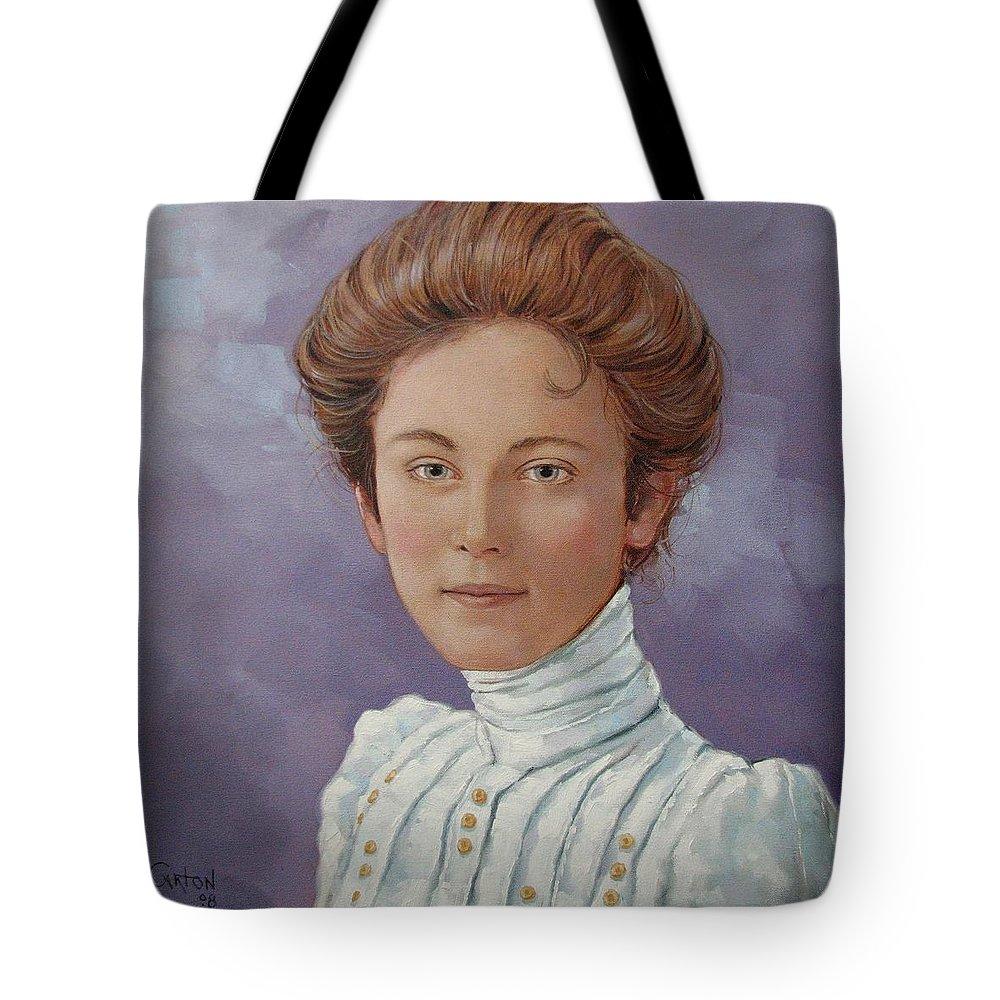 Posthumous Portrait Tote Bag featuring the painting Ada Douglas by Jerrold Carton