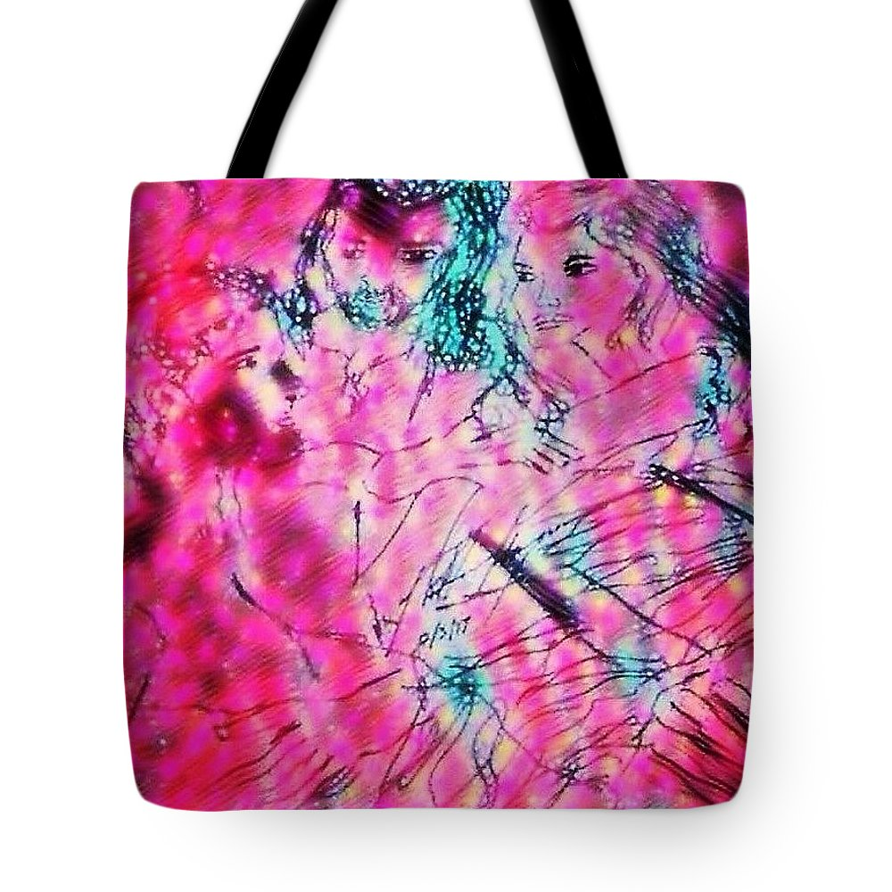 Creation Tote Bag featuring the drawing Adam and Eve The Creation Story by Love Art Wonders By God