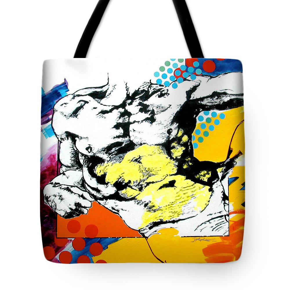Pop Tote Bag featuring the painting Adam by Jean Pierre Rousselet