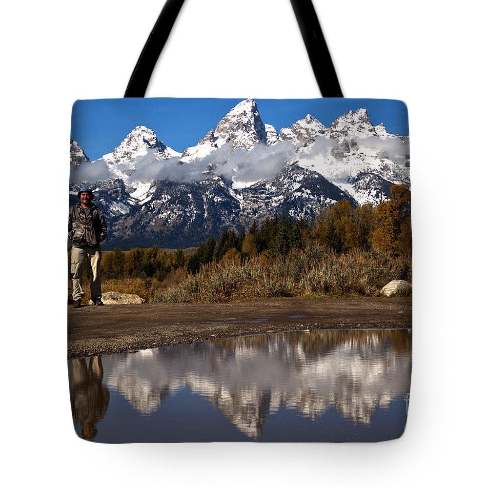 Gtnp Tote Bag featuring the photograph Adam Jewell At Schwabacher Landing by Adam Jewell