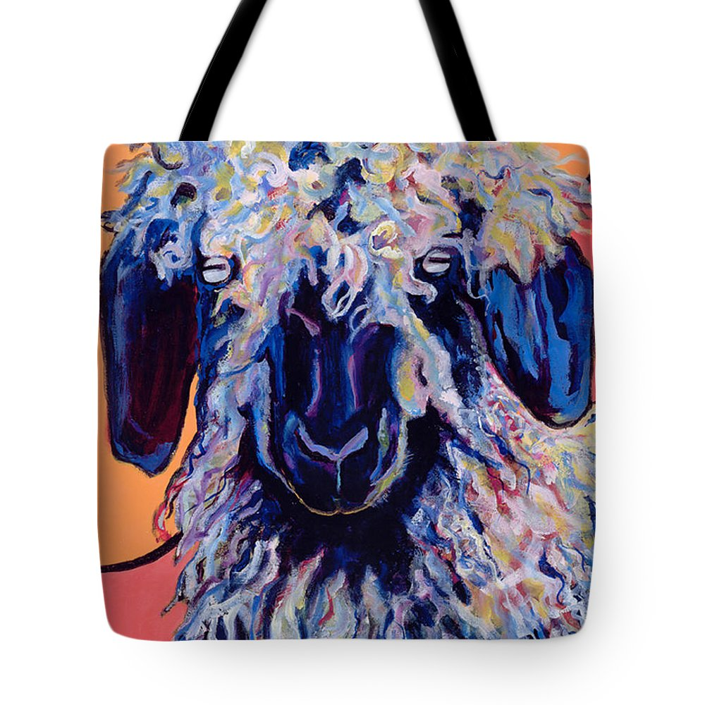 Goat Print Tote Bag featuring the painting Adelita  by Pat Saunders-White
