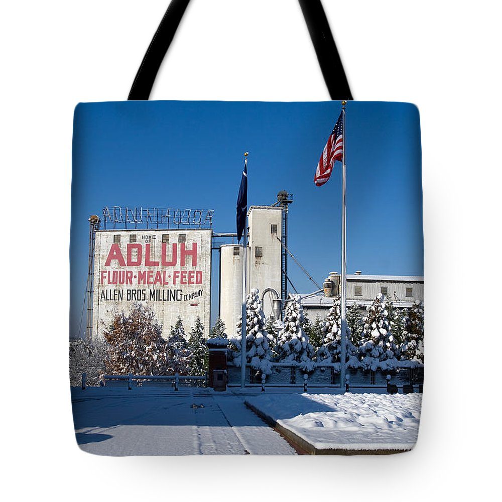 Adluh Flour Tote Bag featuring the photograph Adluh Flour 2010 by Joseph C Hinson