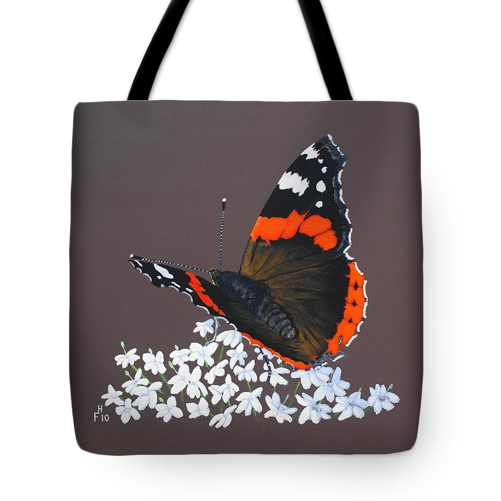 Acrylic Tote Bag featuring the painting Admiral Rest by Frank Hamilton