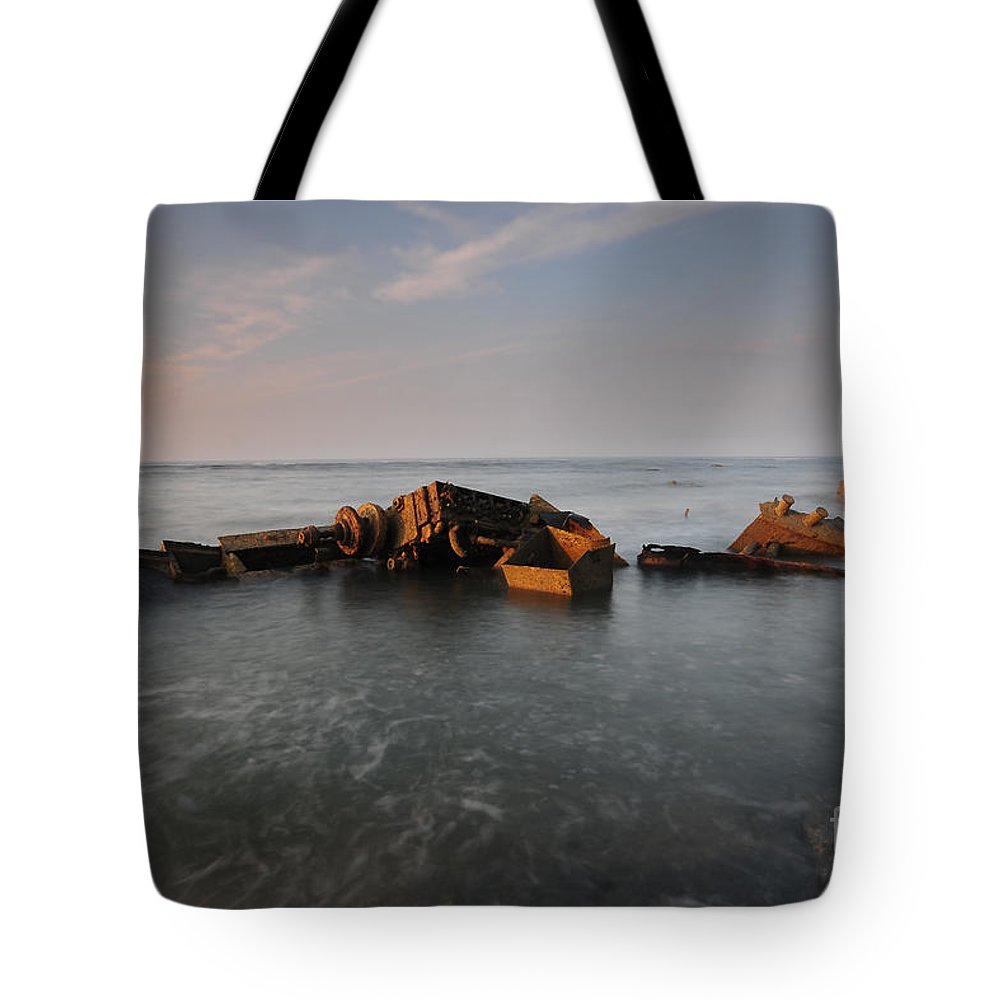 Saltwick Bay Tote Bag featuring the photograph Admiral Von Tromp by Smart Aviation