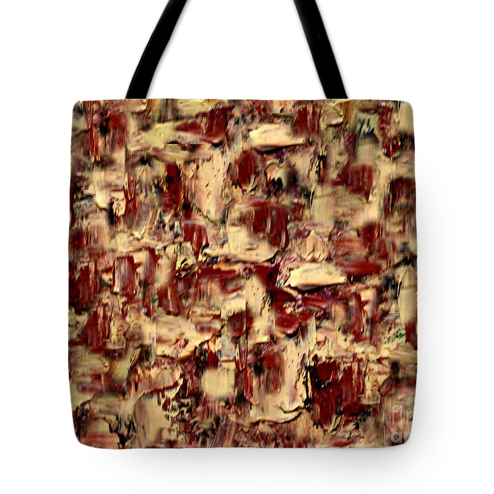Anne Alfaro Tote Bag featuring the painting Adobe by Anne Alfaro