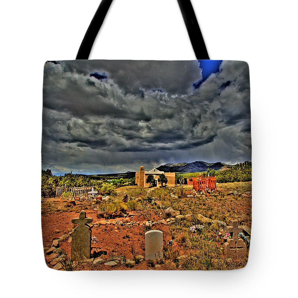 New Mexico Tote Bag featuring the photograph Adobe Church by David Patterson
