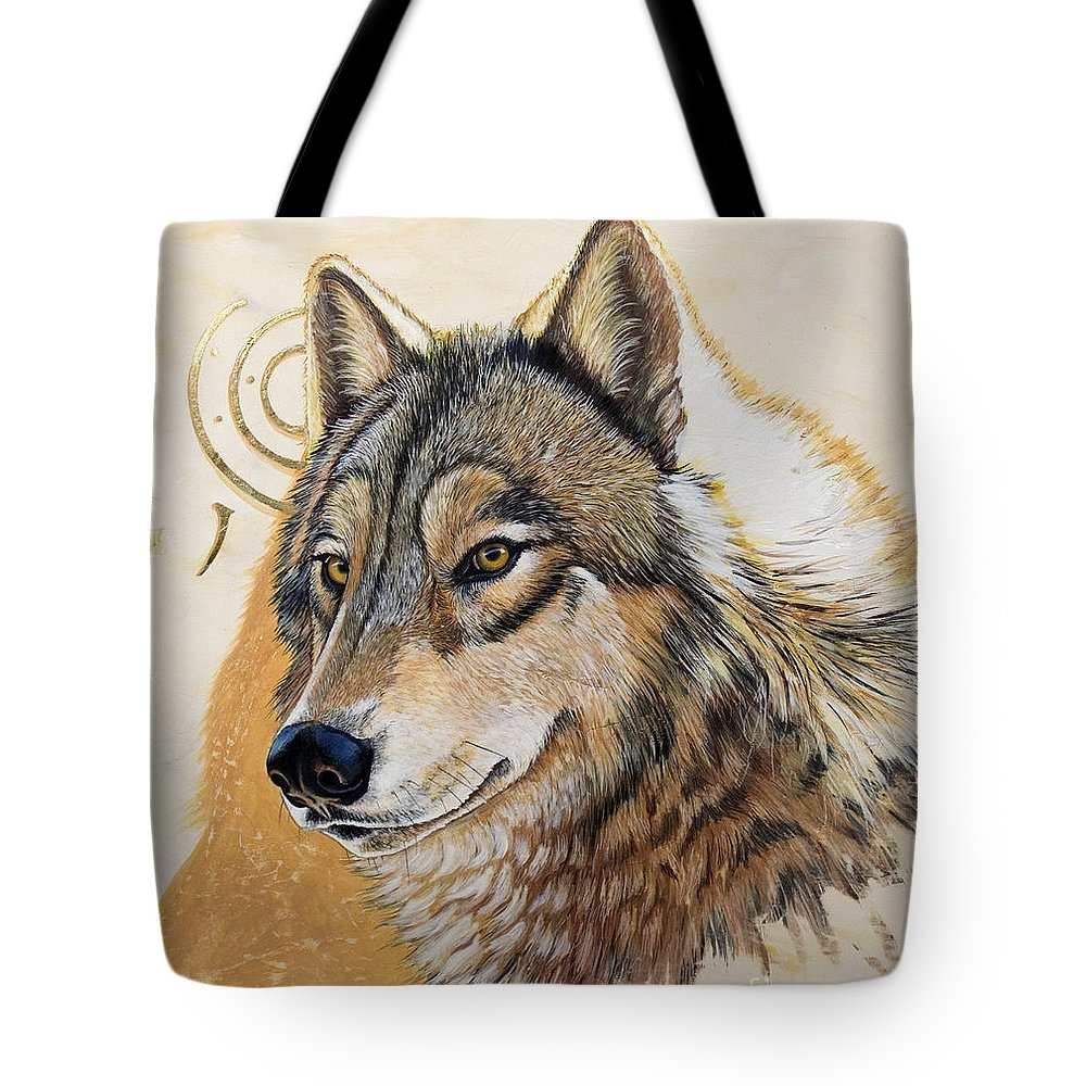 Acrylics Tote Bag featuring the painting Adobe Gold by Sandi Baker