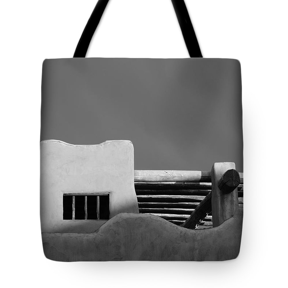 Architecture Tote Bag featuring the photograph Adobe Turrett by Rob Hans