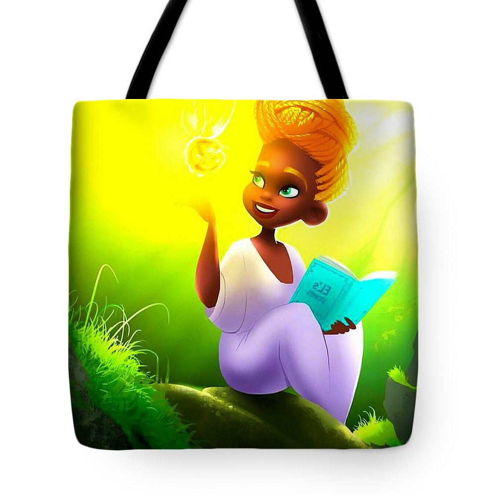 Tote Bag featuring the digital art Adorable Princess by Frank Berko