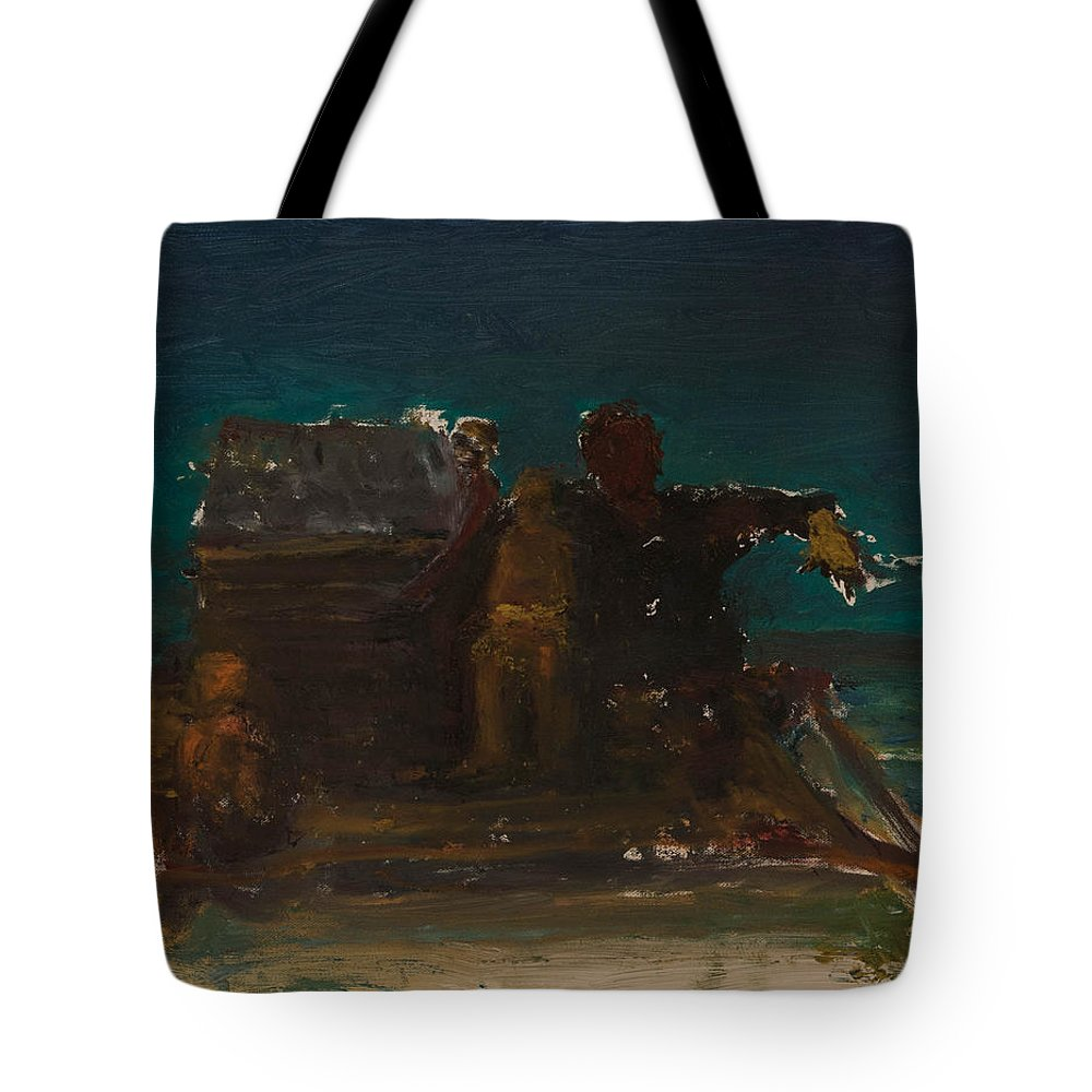 Raft Tote Bag featuring the painting Adrift by Craig Newland
