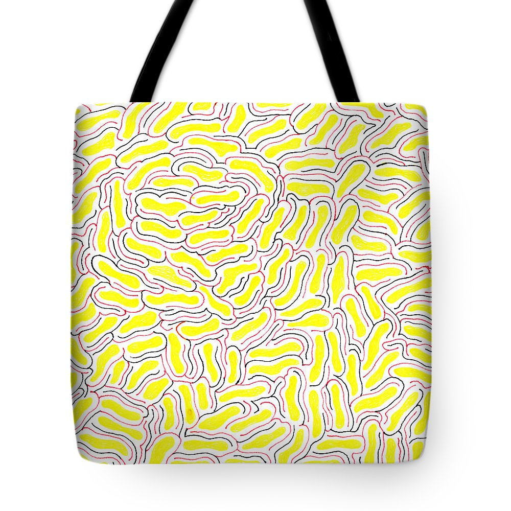 Mazes Tote Bag featuring the drawing Adrift by Steven Natanson