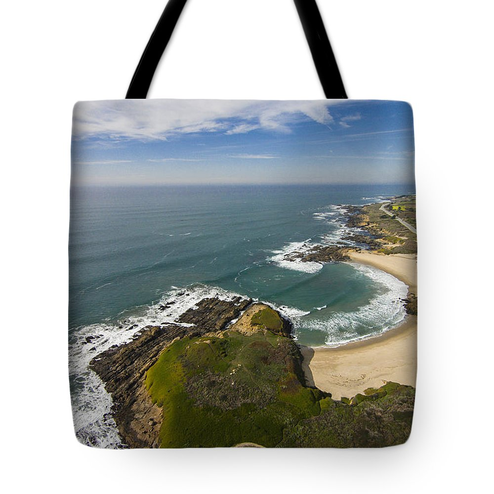 Above Tote Bag featuring the photograph Advancing Swell by David Levy