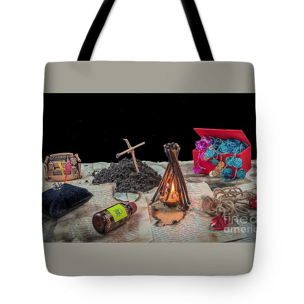 Shadow Tote Bag featuring the photograph Adventure Novel by Lyudmila Prokopenko