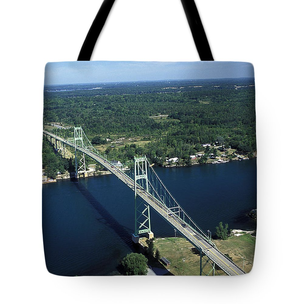 Aerial Tote Bag featuring the photograph Aerial View Of The Thousand Island by Richard Nowitz