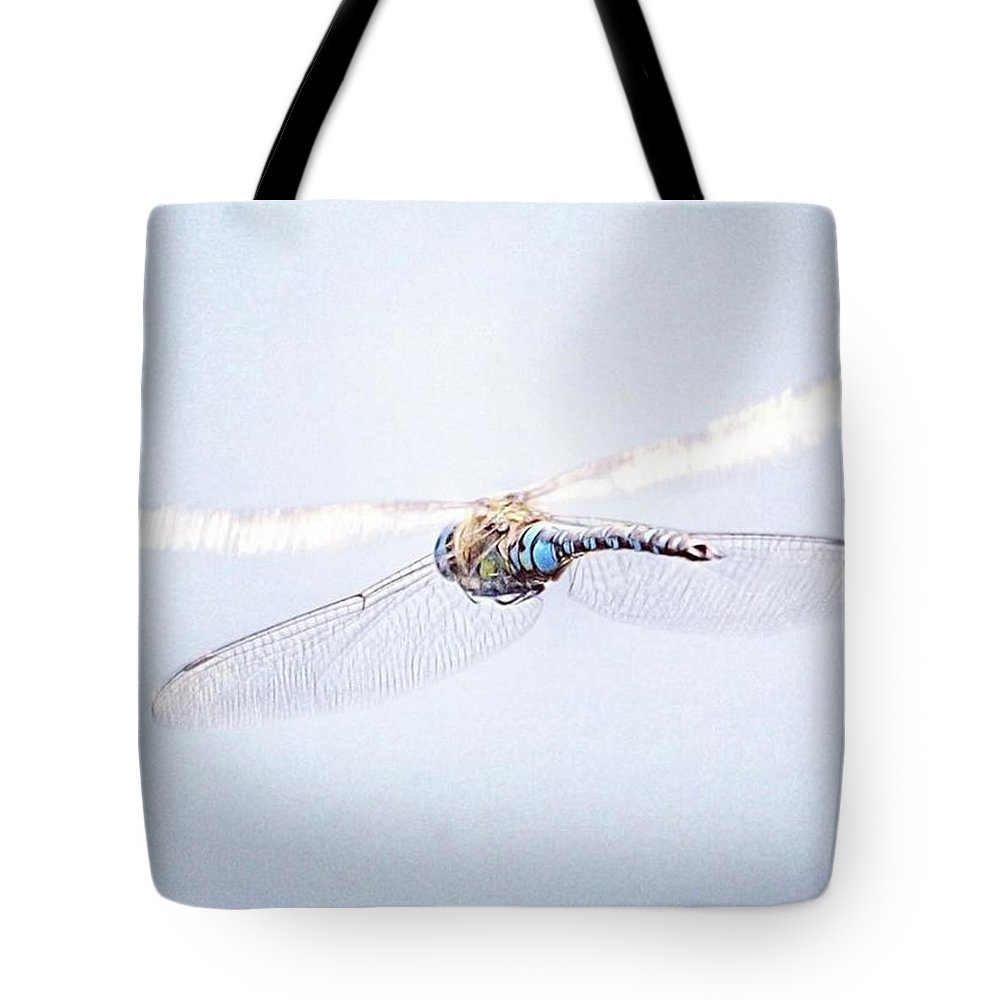 Dragonfly Tote Bag featuring the photograph Aeshna Juncea - Common Hawker In by John Edwards