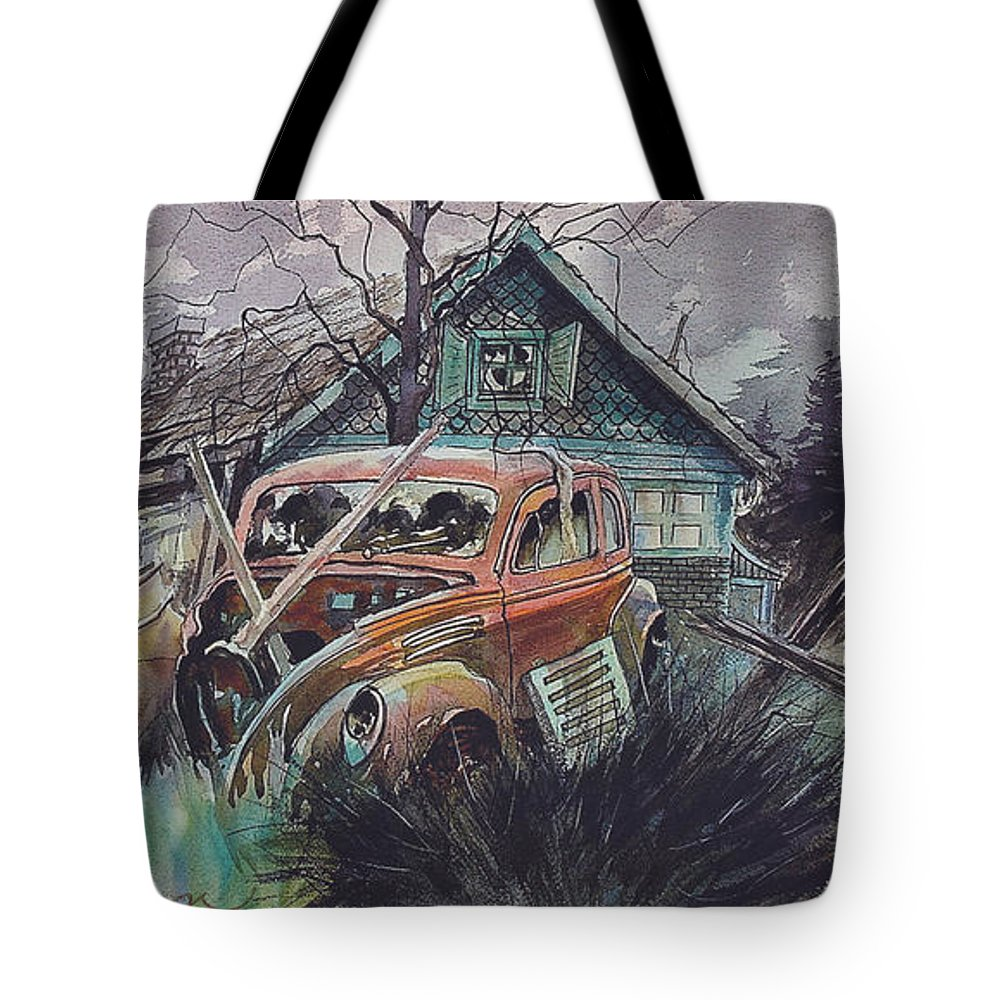 Ford Tote Bag featuring the painting Affordable by Ron Morrison