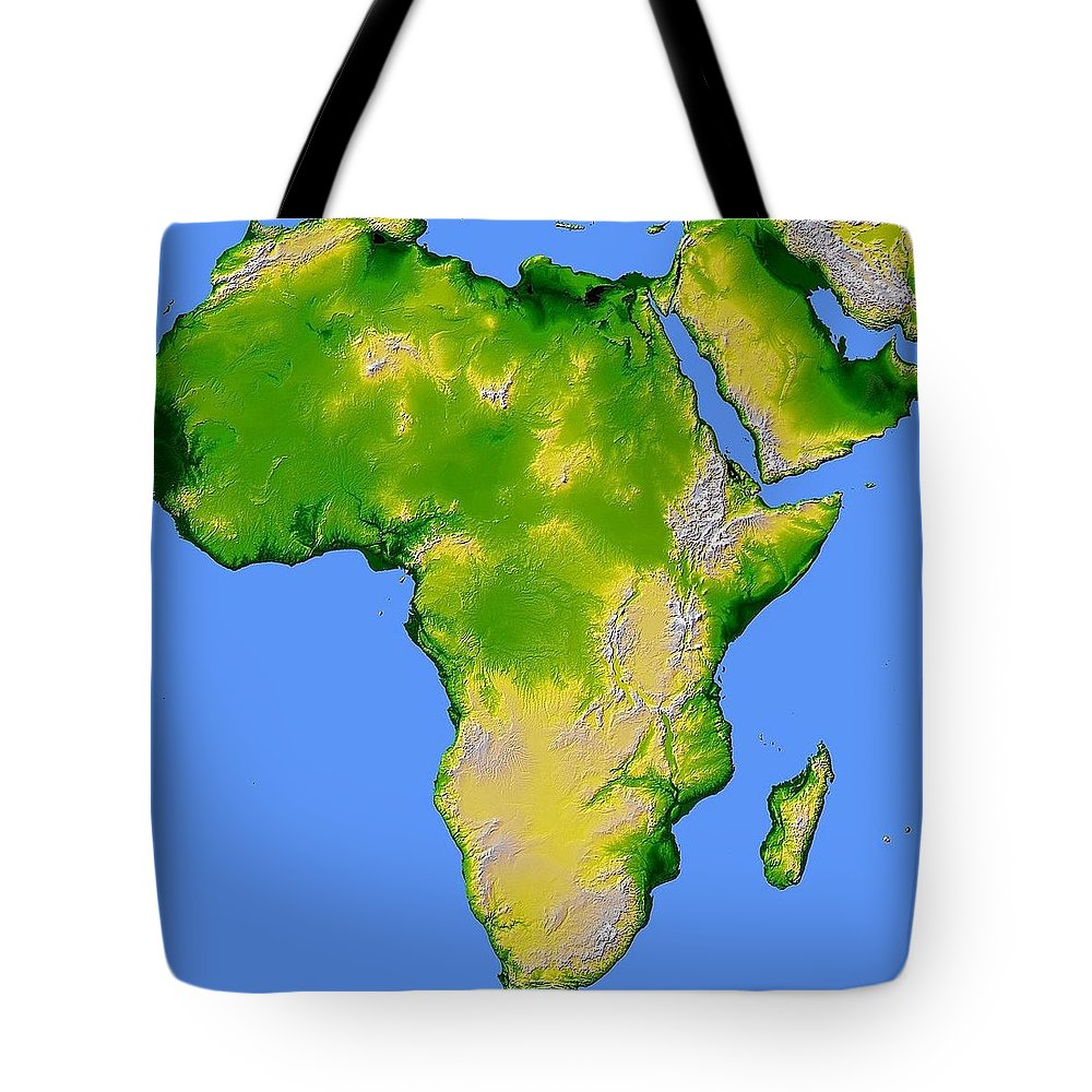 Artistic Panda Tote Bag featuring the pyrography Africa by Artistic Panda