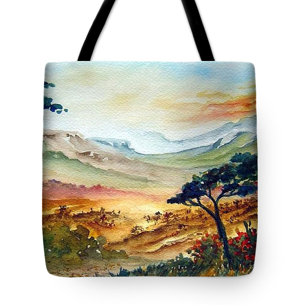Africa Tote Bag featuring the painting Africa by Joanne Smoley