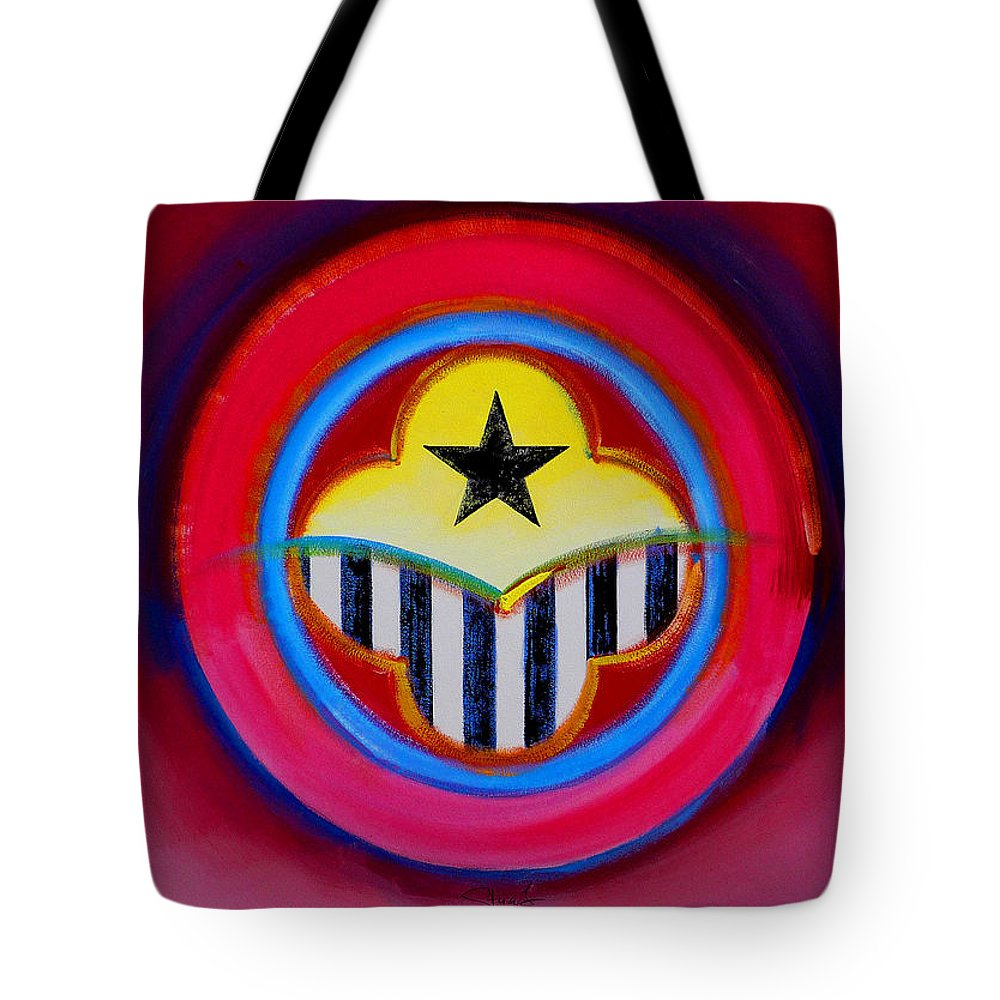 Button Tote Bag featuring the painting African American by Charles Stuart