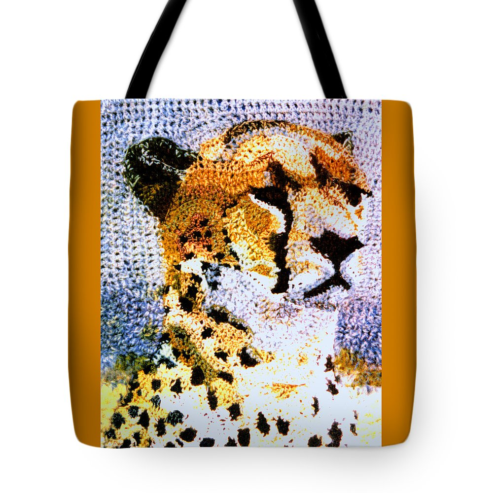 African Cheetah Tote Bag featuring the tapestry - textile African Cheetah by Paul Lee