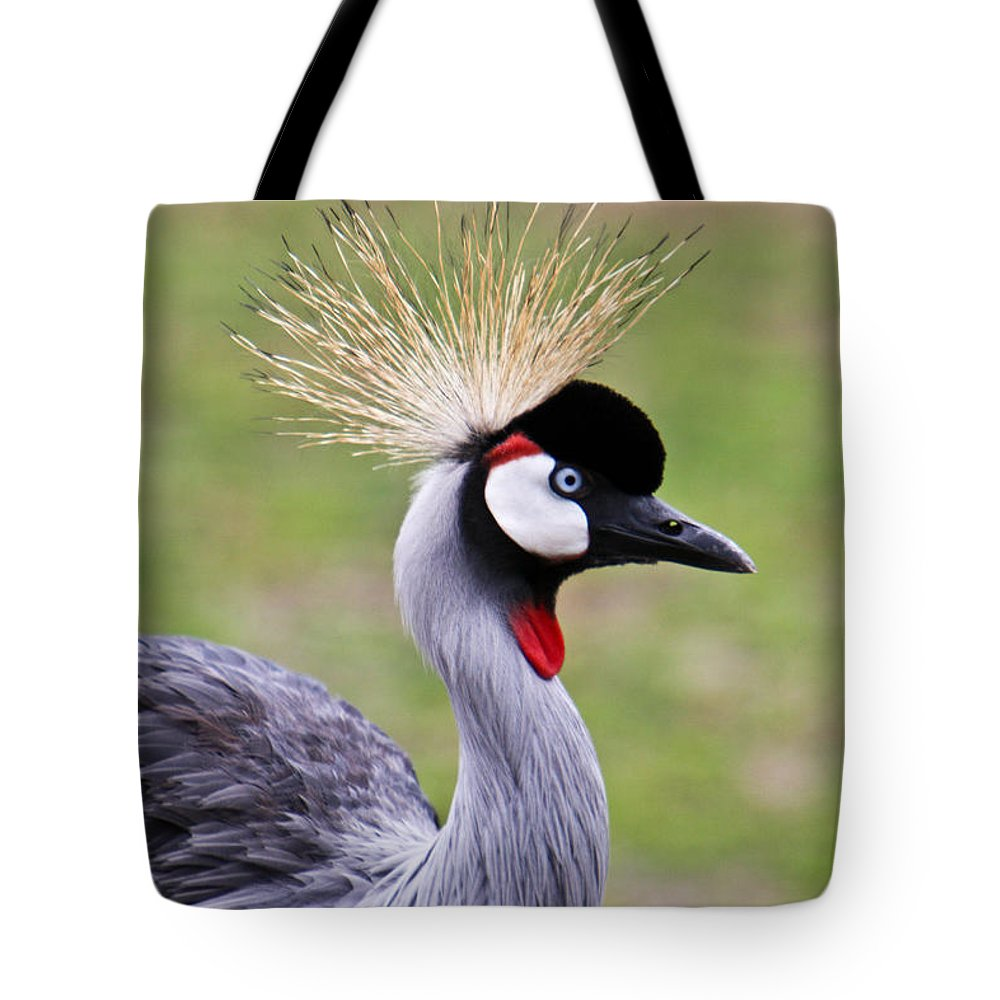 Bird Tote Bag featuring the photograph African Crowned Crane by Douglas Barnett