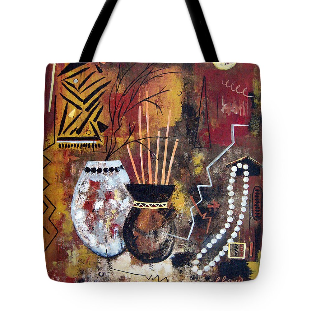 Abstract Tote Bag featuring the painting African Perspective by Ruth Palmer